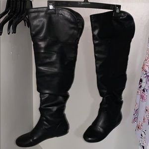 Wild Diva over the knee black boots like new